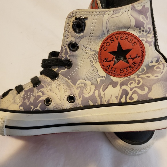 Converse leather high tops Year of the Dragon